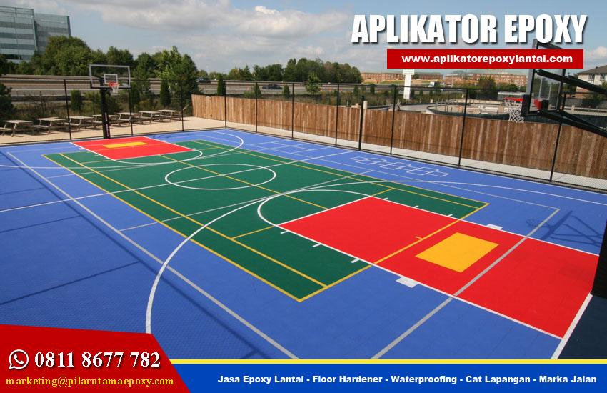 Jasa Pengecatan Lapangan Badminton Tenis Basket Futsal
